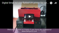 A4 cards UV printer