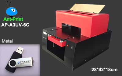 UV flatbed metal printer