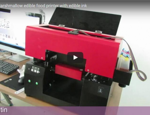 Digital marshmallow edible food printer with edible ink
