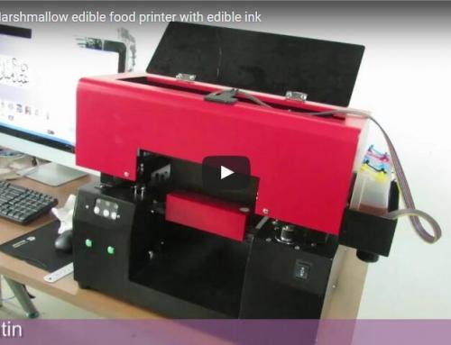 Digital marshmallow edible food printer with edible ink