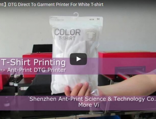 Updated Version dtg printer direct to white t-shirt
