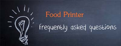 faqs-food printer