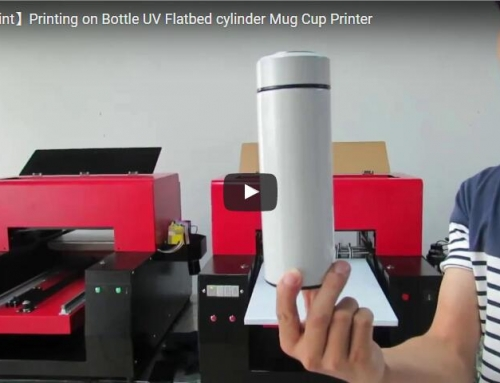 UV printer application on the Bottle cylinder
