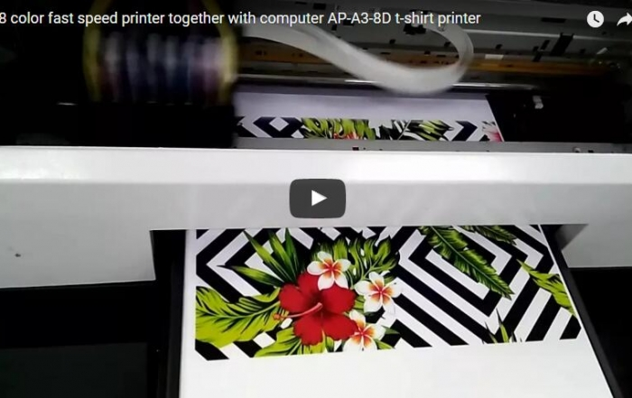 8 color t-shirt printer