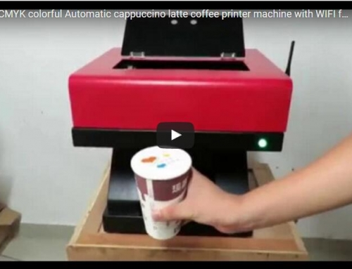 Automatic cappuccino latte coffee printer machine with WIFI function