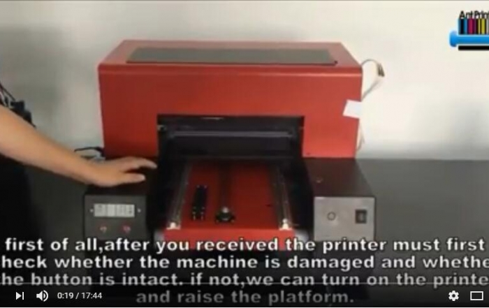 A4 UV printer installation video