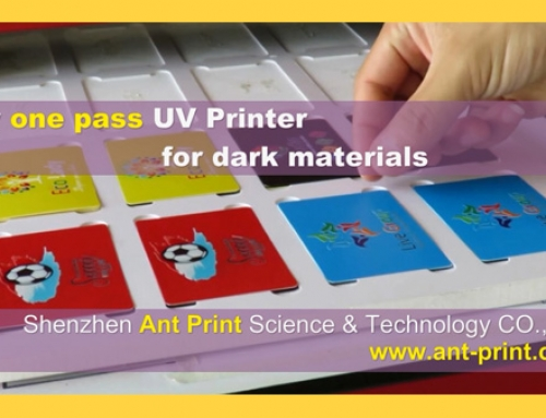 2018 New Arrival AcroRIP ver9.0.3 Only one pass A3 UV flatbed printer for dark materials