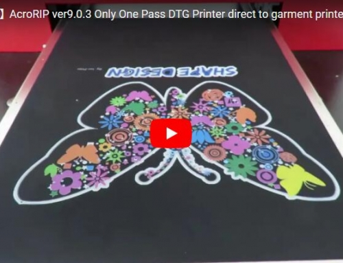 AcroRIP ver9.0.3 Only One Pass DTG Printer direct to garment printer for dark t shirt
