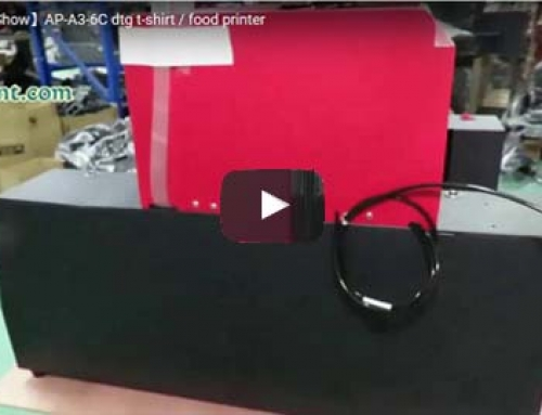 【Products Video】New AP-A3-6C t-shirt / Food Printer Show