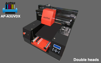 AP-A3UVDX double heads flatbed uv t-shirt printer