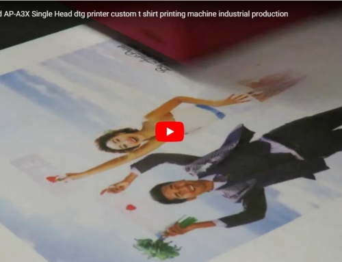 Fast speed tshirt printer AP-A3X best direct to tee shirt printing machine for white tshirt printing