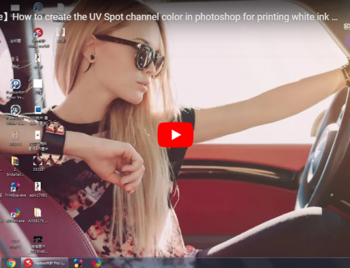 How to create the UV Spot channel color in photoshop for printing white ink and UV vanish oil?