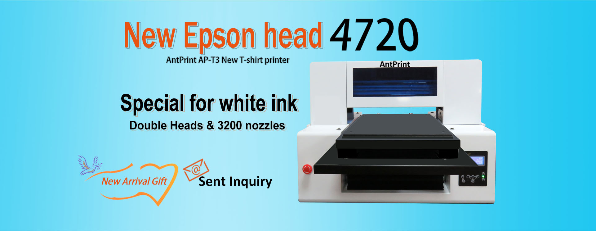 antprint new double head 4720 dtg printer