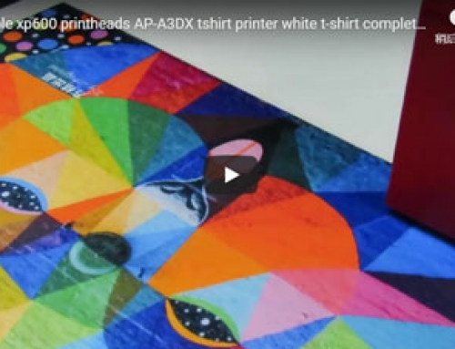 Only 2 munites AP-A3UVX double heads tshirt printer special for dark tshirt