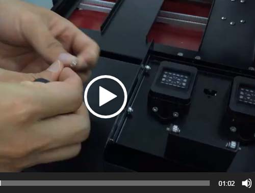 adjust the clean unit height for double heads uv printer