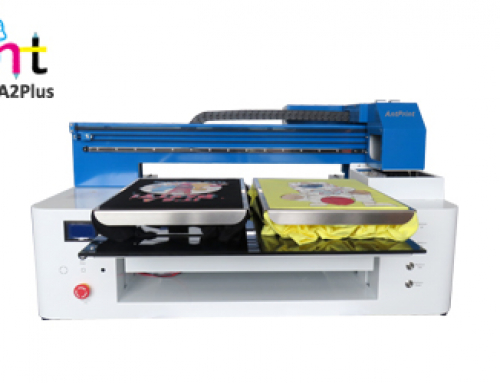 New A2Plus size dtg printer Two tshirt platens direct to garment printer machine with double dx9 heads