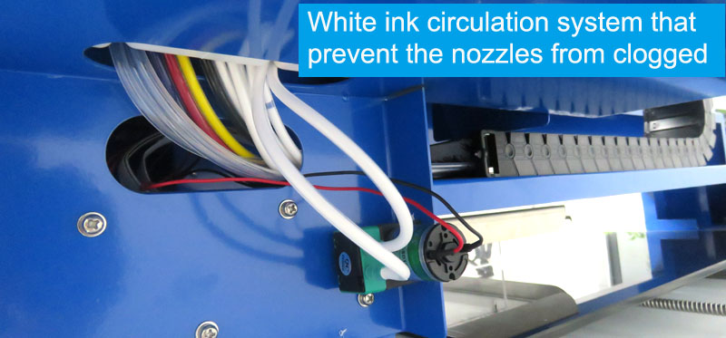 white ink system A2plus dtg printer